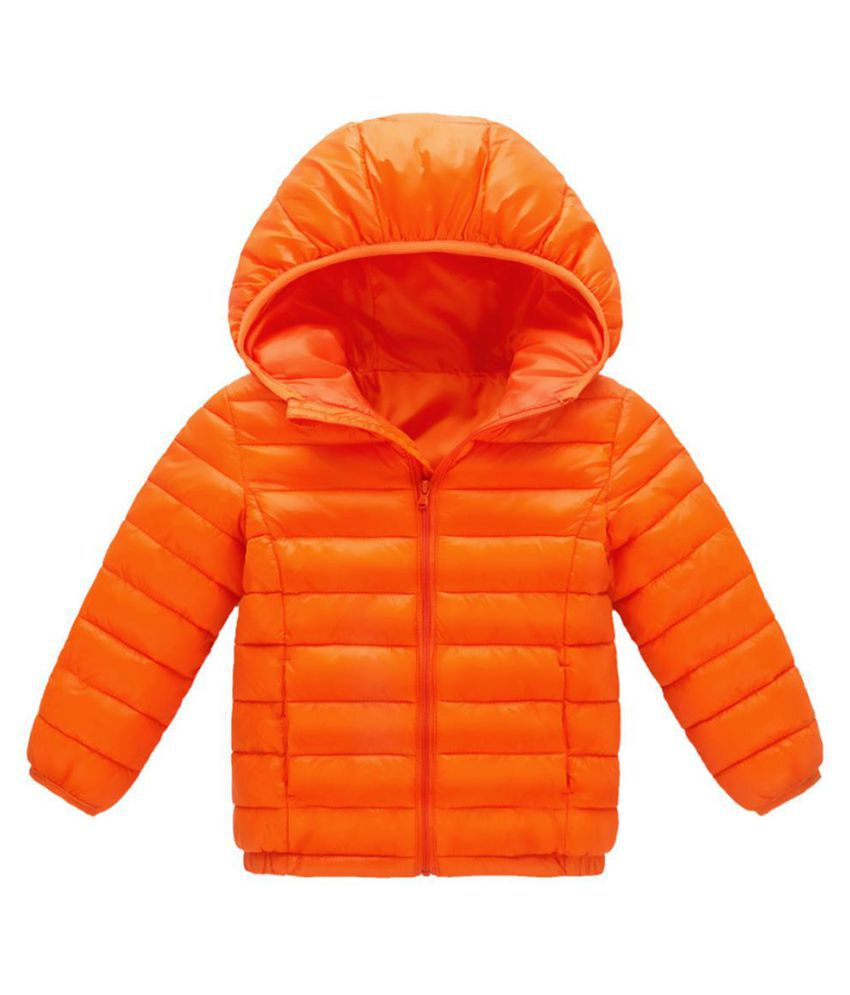 Kids Ultra-light Hooded Down Jacket Long Sleeve Children Winter Warm Zipper Coat
