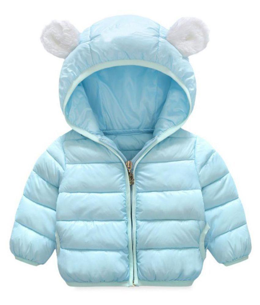 Infants Kids Winter Cotton Coats Baby Cute Small Ears Hooded Jacket Short Coat