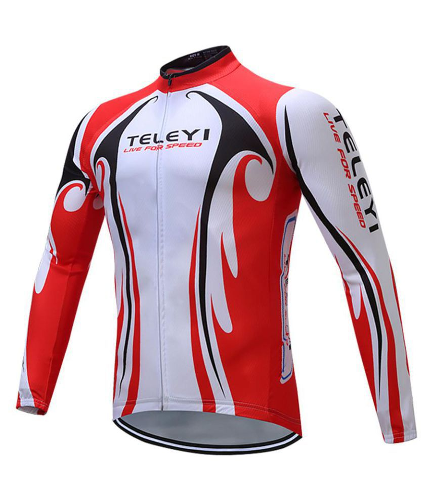Men Sporty Quick Dry Racing Cycling Stand Collar Long Sleeve Top Pants Clothes