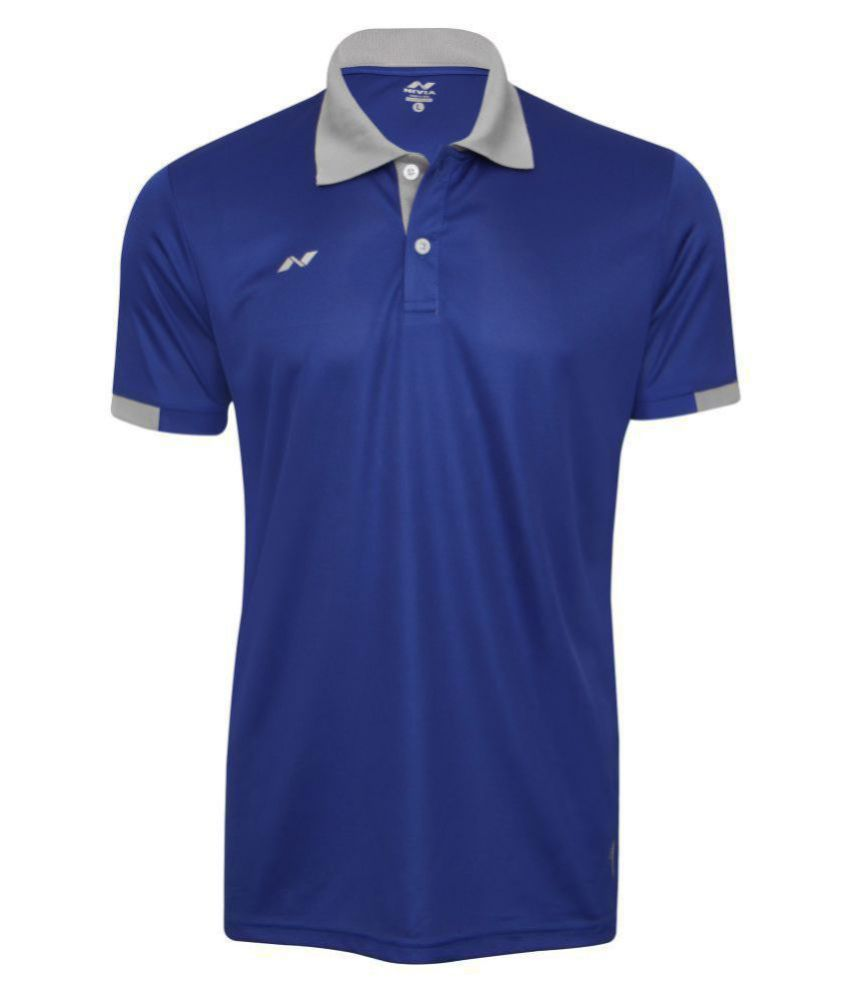 Nivia Blue Polyester Polo T-Shirt-2351L3