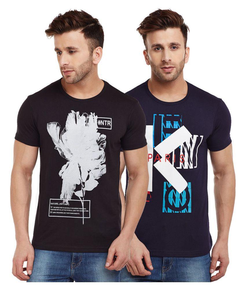 Vimal Multi Half Sleeve T-Shirt Pack of 2