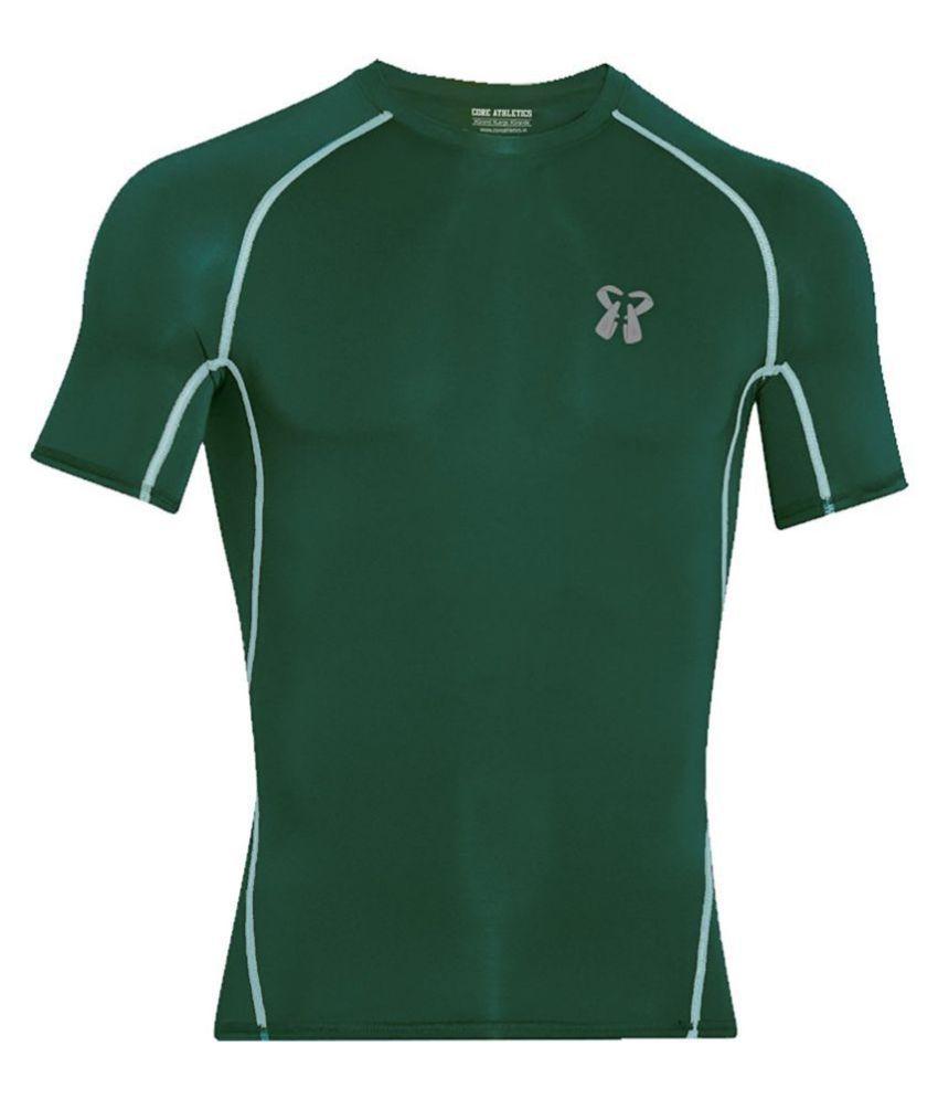 Core Athletics Dark Green Cotton T-Shirt