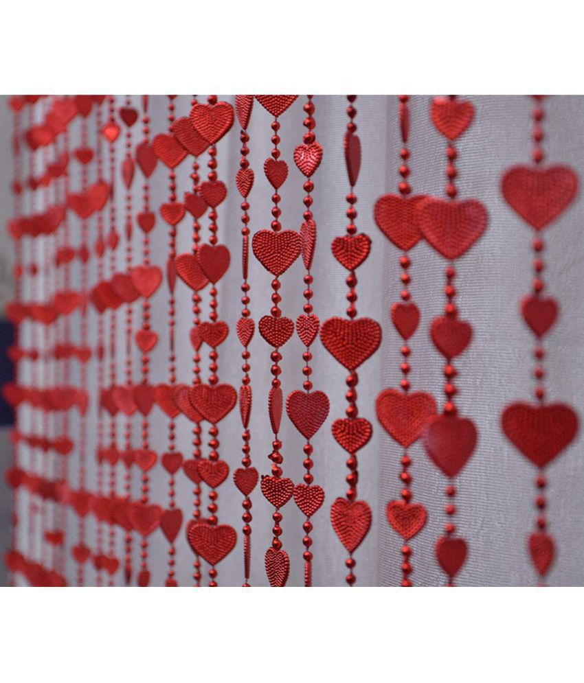 YUTIRITI Single Door Heart String Curtain