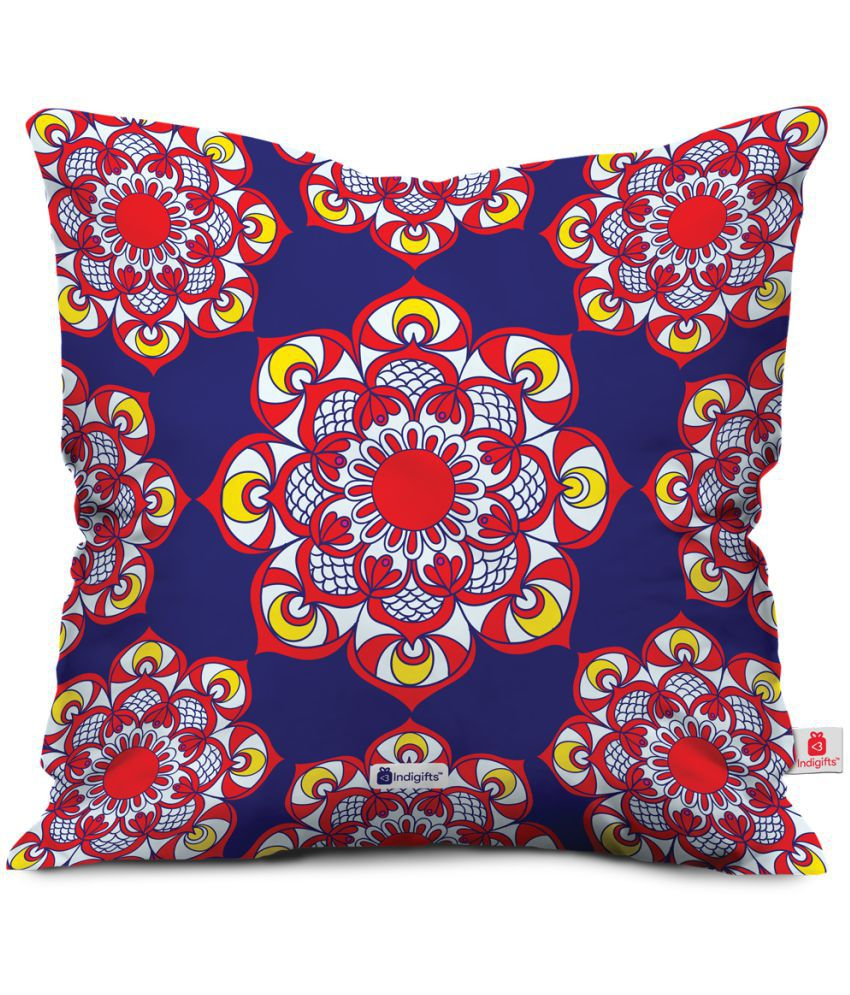 Indigifts Single Satin Cushion Covers with Fillers 30X30 cm (12X12)