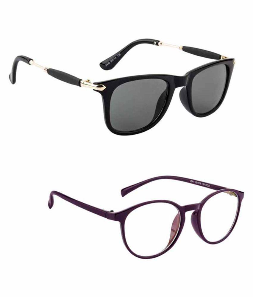Lee Topper Black Wayfarer Sunglasses ( NGA-141 )