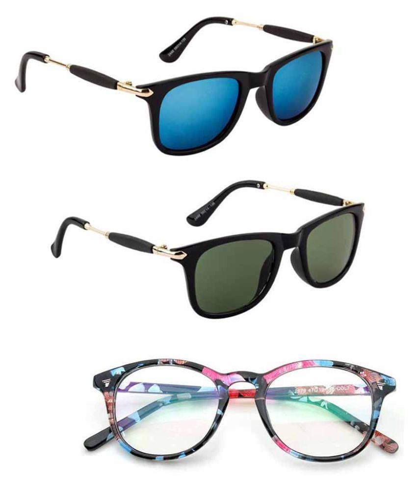 Lee Topper Blue Wayfarer Sunglasses ( NGA-109 )