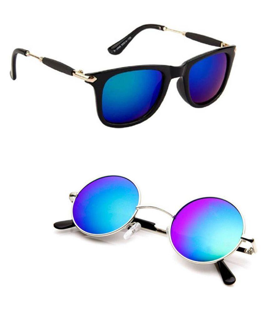 Lee Topper Blue Wayfarer Sunglasses ( NGA-153 )