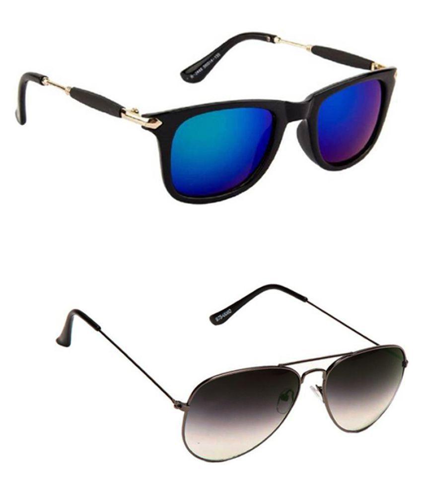 Lee Topper Blue Wayfarer Sunglasses ( NGA-166 )