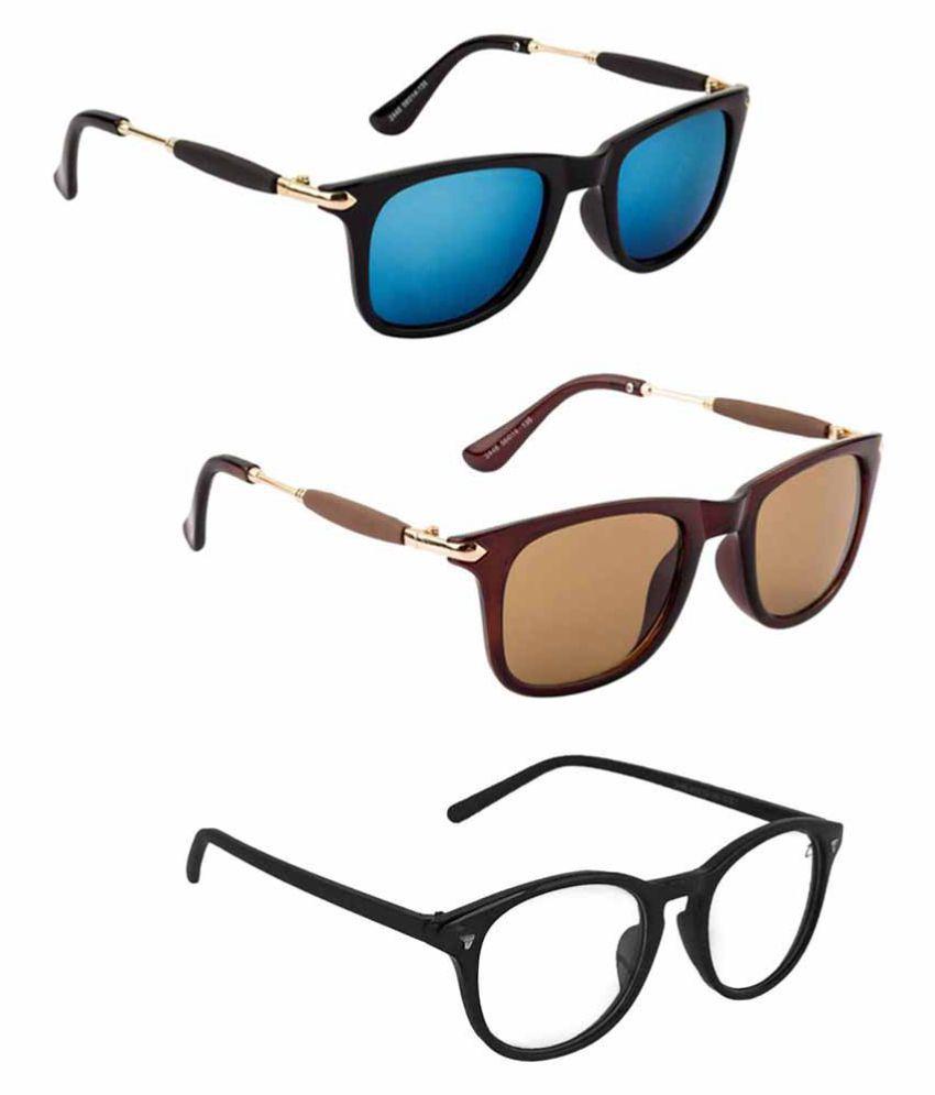 Lee Topper Blue Wayfarer Sunglasses ( NGA-90 )