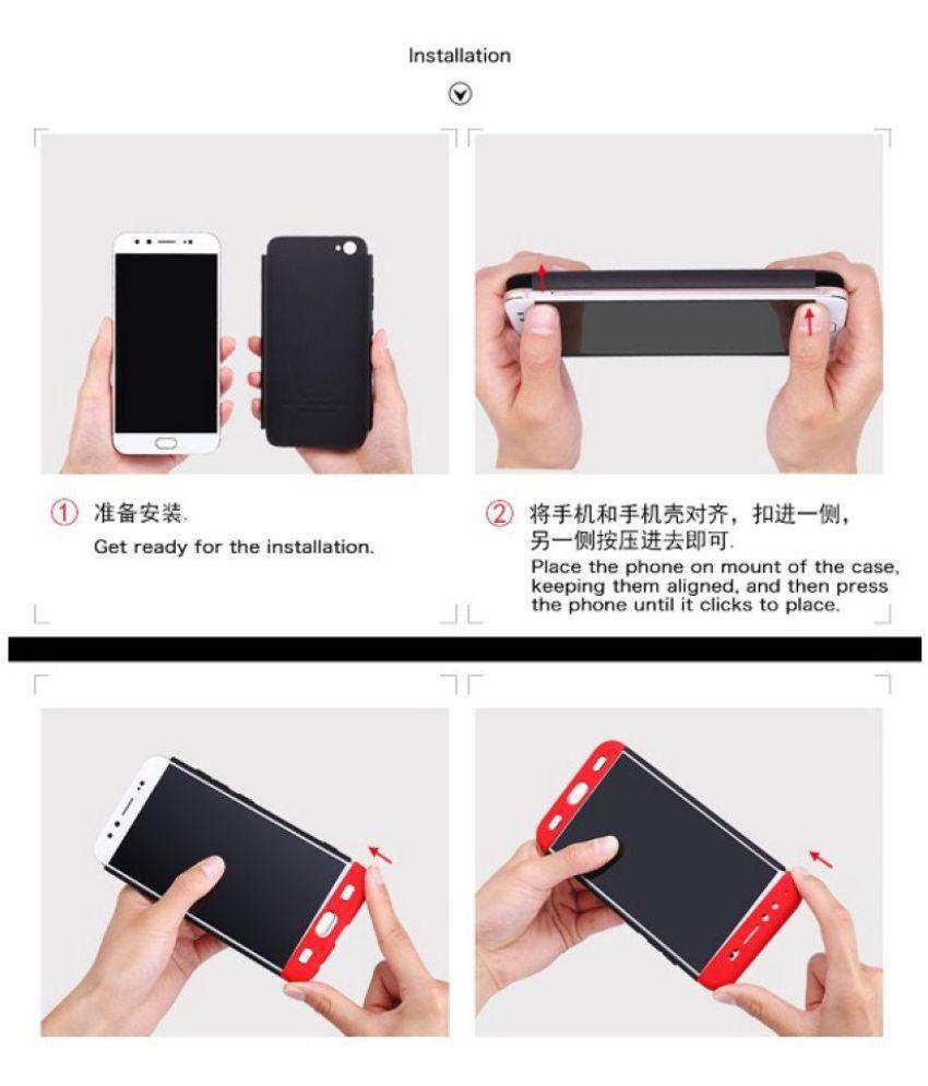 Vivo V9 Hybrid Covers Jma Red Original Gkk 360 Protection Slim Speaker Bluetooth Ori Case