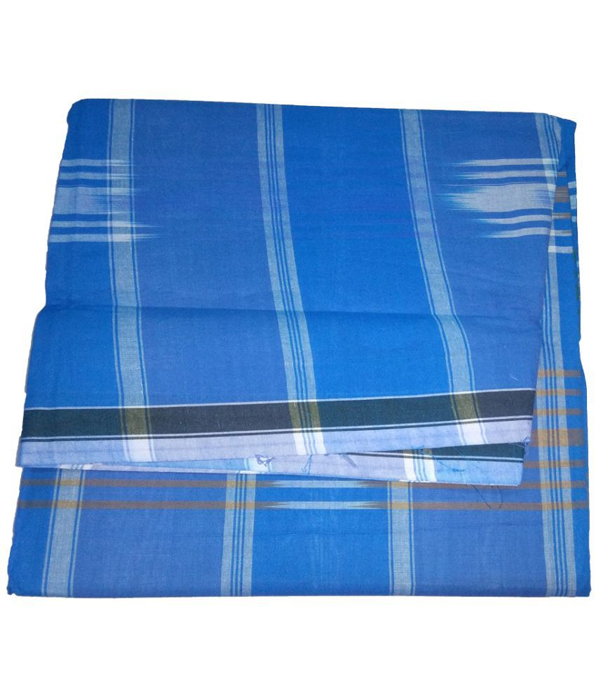 Alif Laila Blue Lungi - Buy Alif Laila Blue Lungi Online at