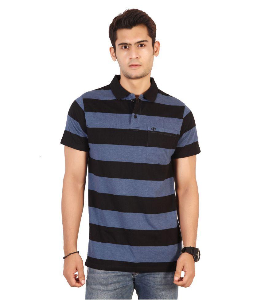 Awack Navy Half Sleeve T-Shirt