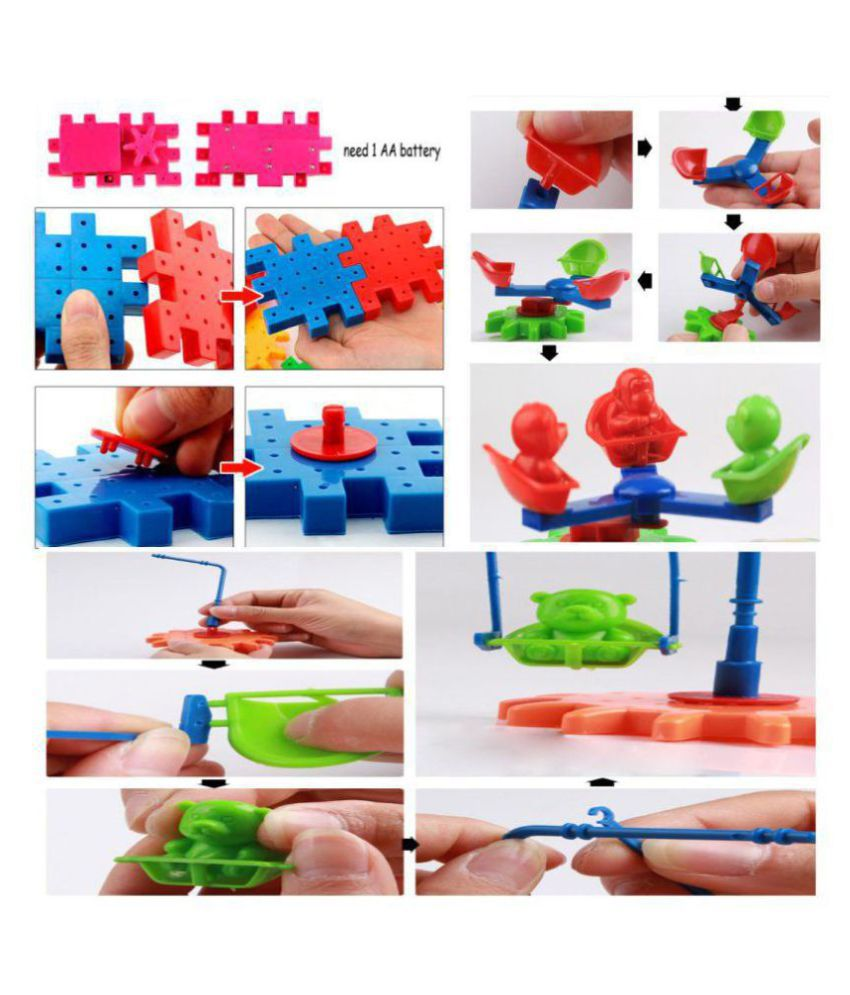 20bb7d72 Funny Bricks 81 PCS Gear Building Blocks Set - Educational Toy -  Interlocking Learning Blocks - Motorized Spinning Gears - Colourful Shapes  Puzzle for ...