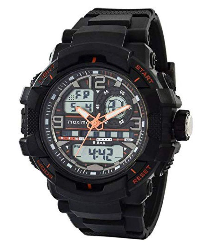 bc3e881ed Maxima 51662PPAN Plastic Analog-Digital Men s Watch - Buy Maxima 51662PPAN Plastic  Analog-Digital Men s Watch Online at Best Prices in India on Snapdeal