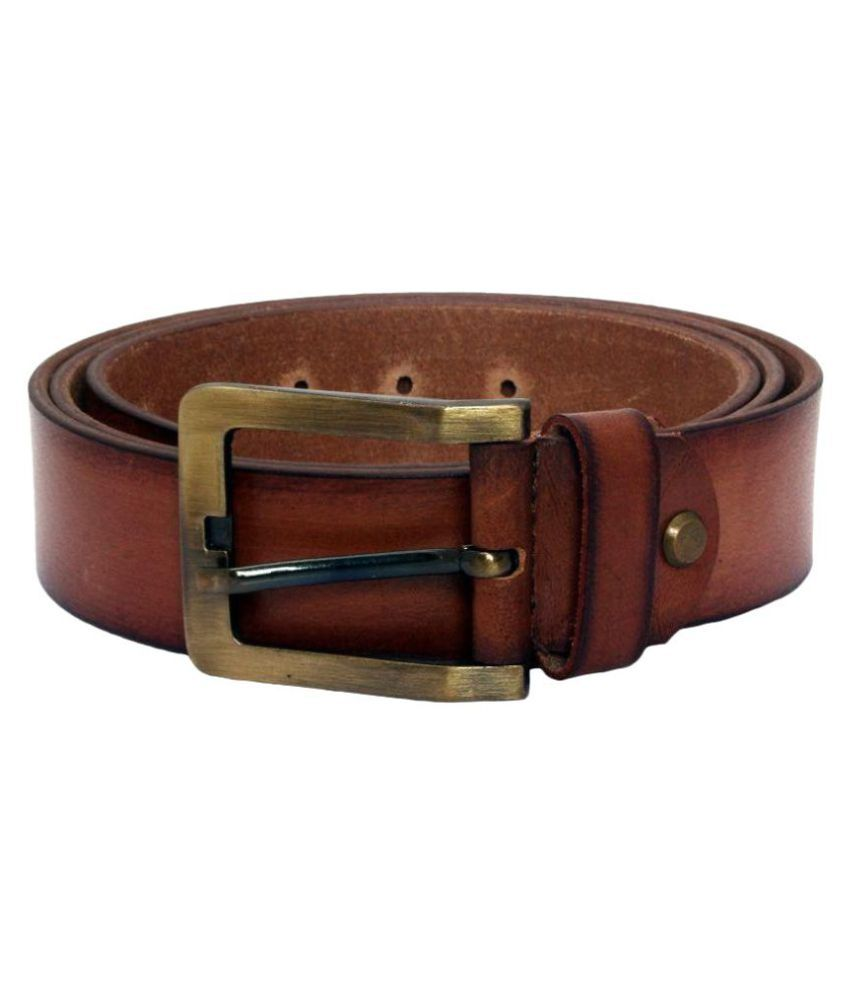 TechTradition Brown Leather Casual Belt - Pack of 1