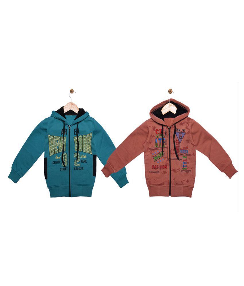 Ziva Fashion Girls Hooded Sweatshirt Pach of 2