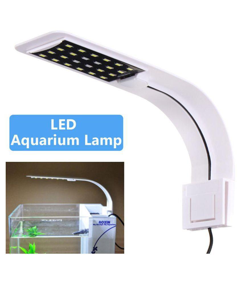 10W 24leds Adjustable LED Fish Tank Aquarium Light Energy Saving LED Lights AC220V Pets Fish Grass Lighting Clip Lamp EU Plug