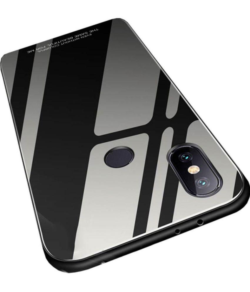 best cheap 533a3 a7642 Xiaomi Redmi 6 Pro Mirror Back Covers FineDeal - Black