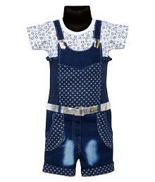 1a6774ee478fc Quick View. BENKILS Cute Fashion Baby Girl's Infant Jeans Party Wear  Dungaree Jumpsuit ...