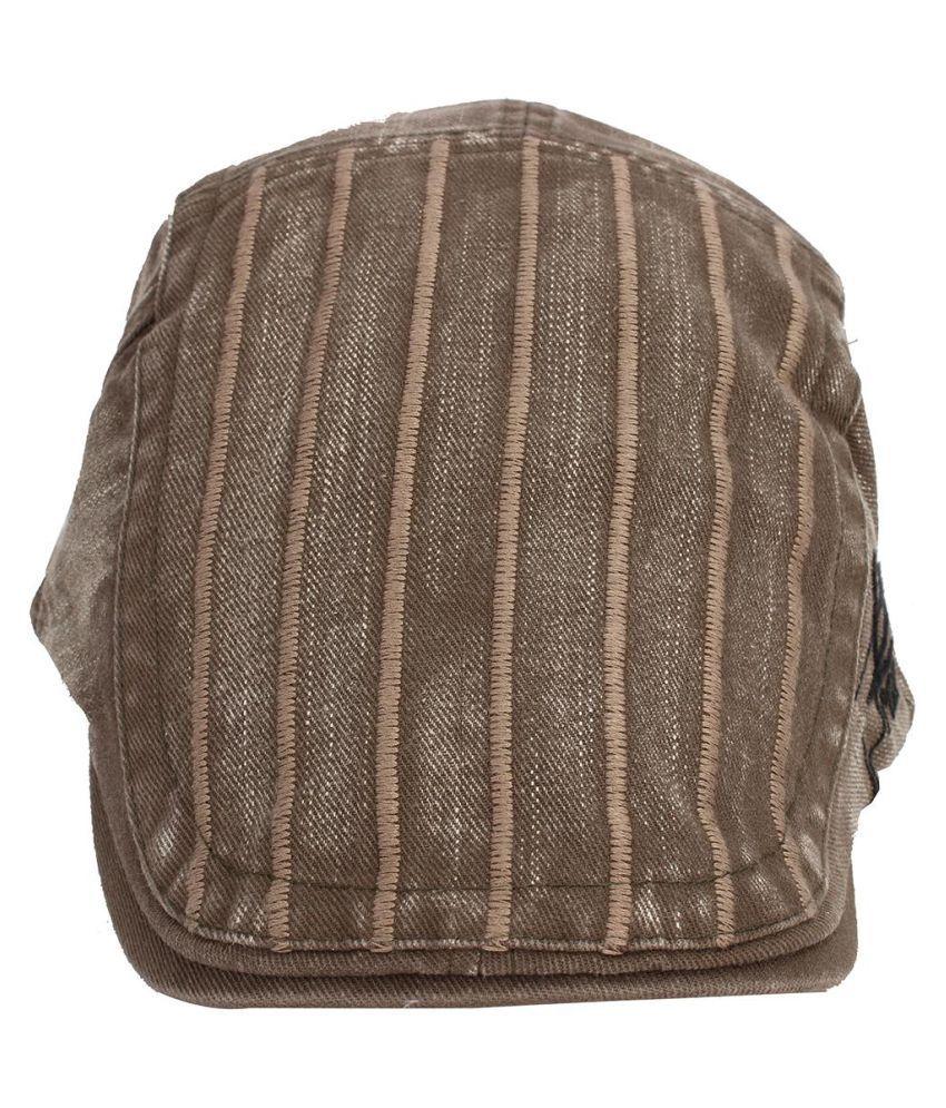 ... Men Ivy Cap Striped Duckbill Beret Hat 2817a90d65