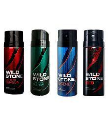 WILD STONE ULTRA SENSUAL DEODORANT 150 ML+ WILD STONE HYDRA ENERGY DEODORANT 150 ML+ WILD STONE LEGEND DEODORANT 150 ML+ RED DEODORANT 150 ML