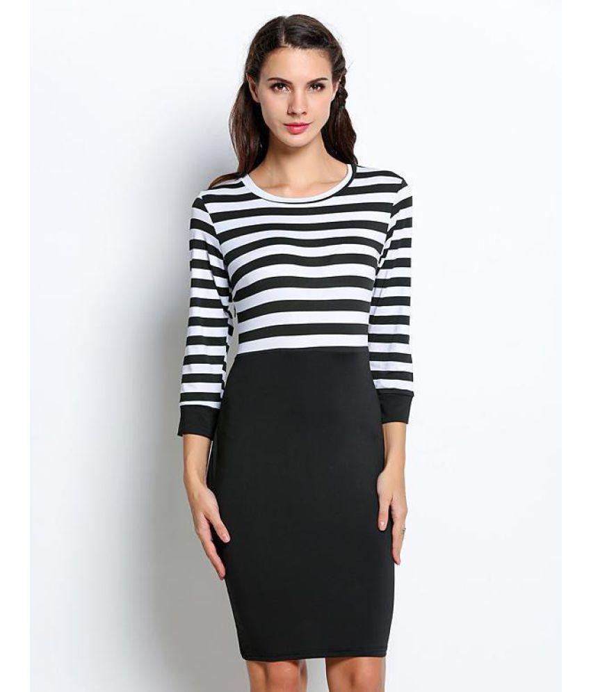 Generic Polyester Multi Color Sheath Dress