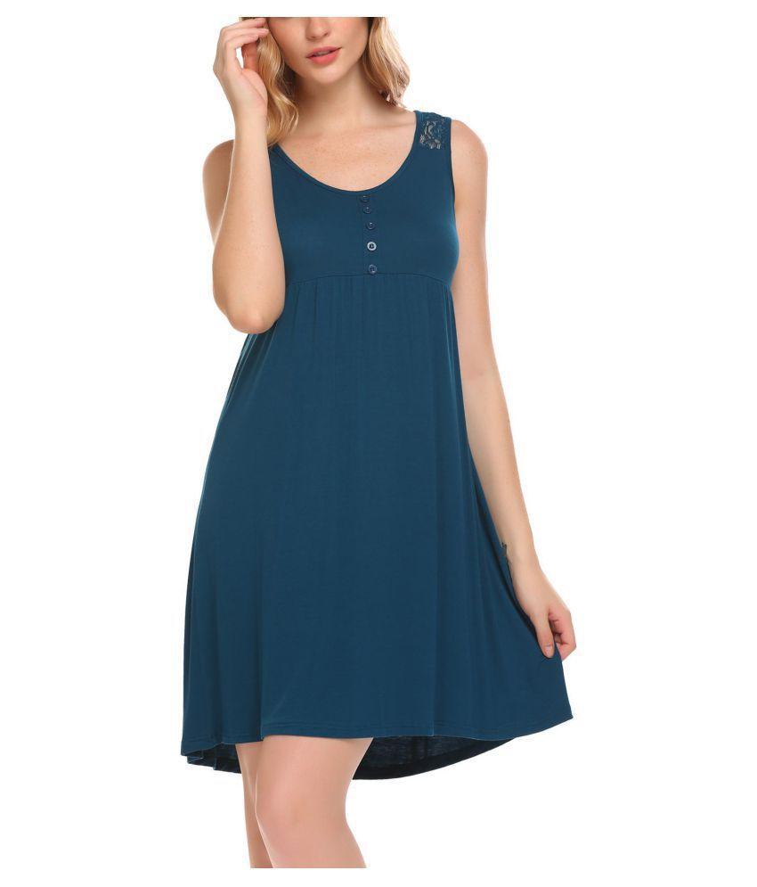 Generic Cotton Nightsuit Sets - Blue