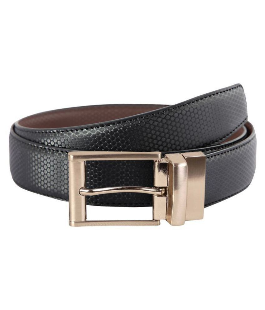Scharf Brown Faux Leather Formal Belt - Pack of 1