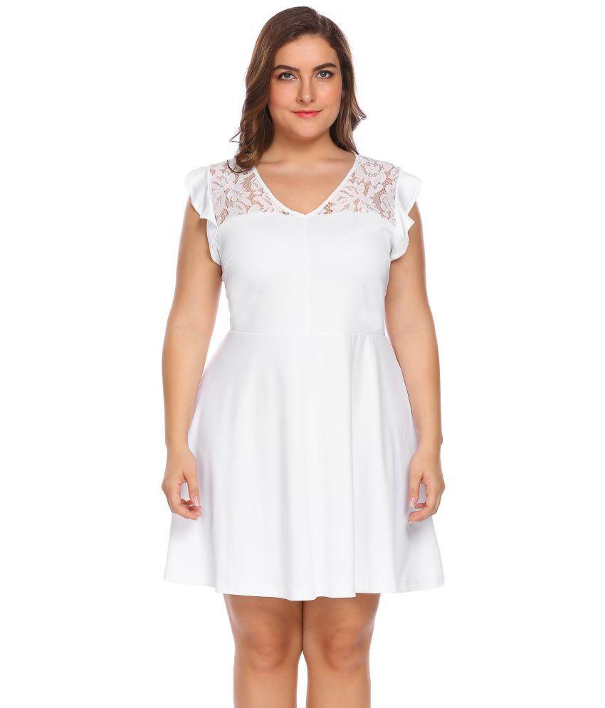 Generic Lace Off White Asymmetric dress