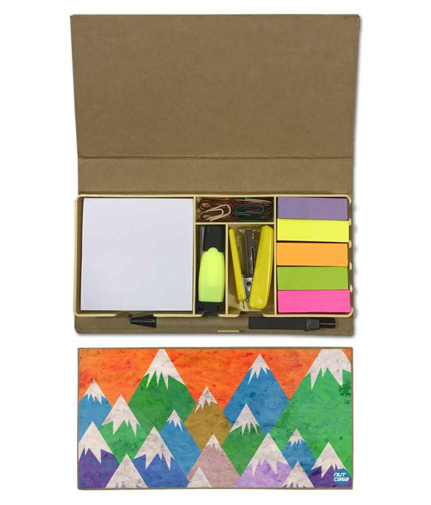 Nutcase Designer Stationary Kit Desk Customised Organizer Memo Notepad - Mountain