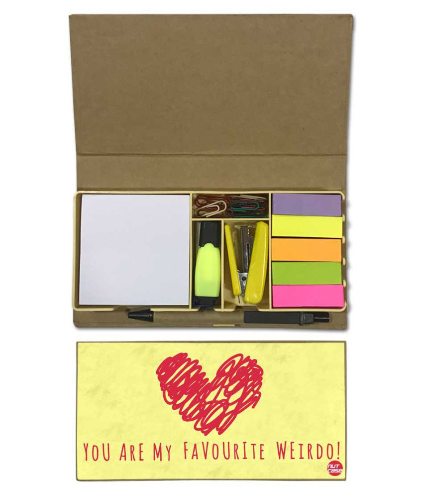 Nutcase Designer Stationary Kit Desk Customised Organizer Memo Notepad - You Are My Favourite Weirdo