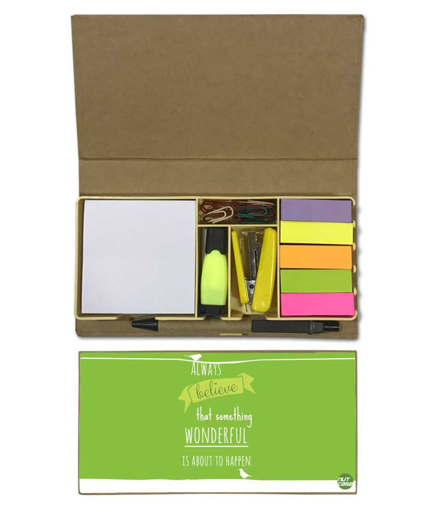 Nutcase Designer Stationary Kit Desk Customised Organizer Memo Notepad - Always Believe