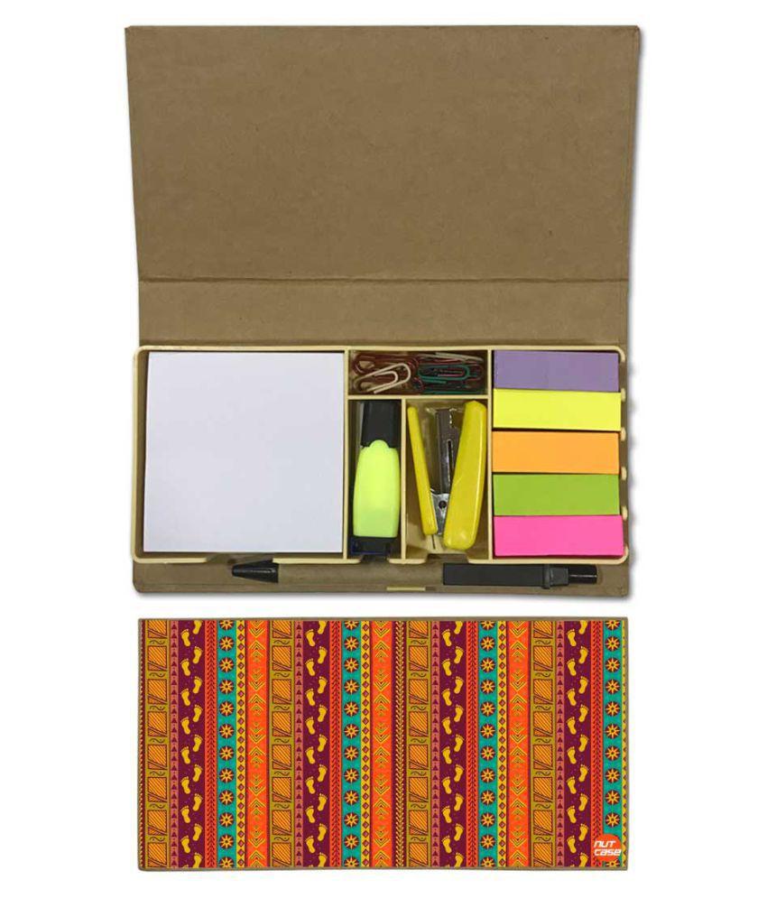 Nutcase Designer Stationary Kit Desk Customised Organizer Memo Notepad - Carpet Designer