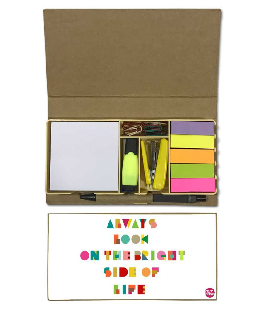 Nutcase Designer Stationary Kit Desk Customised Organizer Memo Notepad - Always Look On The bright Side Of Life