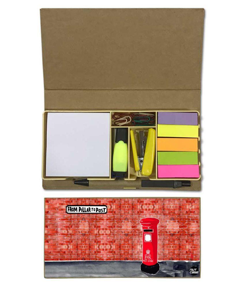 Nutcase Designer Stationary Kit Desk Customised Organizer Memo Notepad - From Pillar To Post