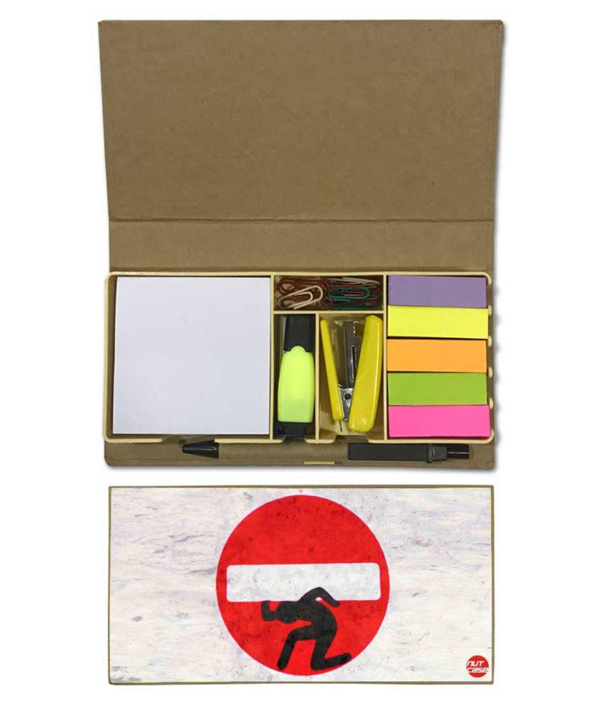 Nutcase Designer Stationary Kit Desk Customised Organizer Memo Notepad - Stop sign