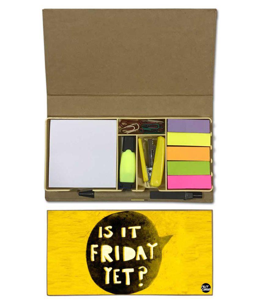 Nutcase Designer Stationary Kit Desk Customised Organizer Memo Notepad - Is It Friday Yet