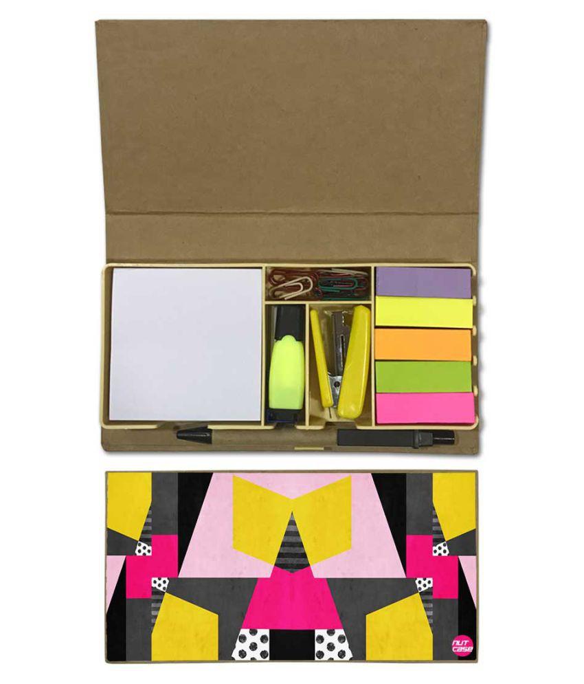 Nutcase Designer Stationary Kit Desk Customised Organizer Memo Notepad - Designer Art