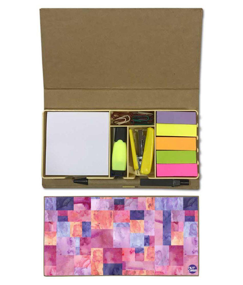 Nutcase Designer Stationary Kit Desk Customised Organizer Memo Notepad - Multicolor Box