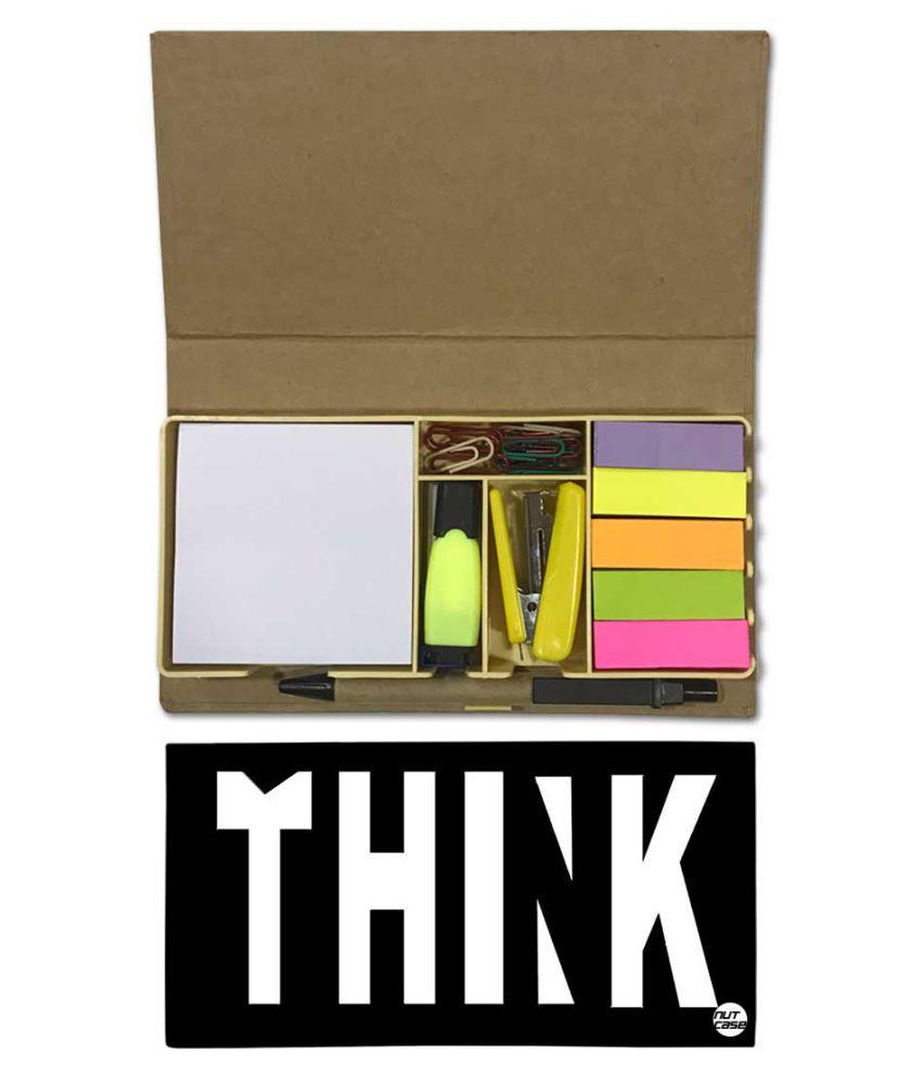 Nutcase Designer Stationary Kit Desk Customised Organizer Memo Notepad - Thnk