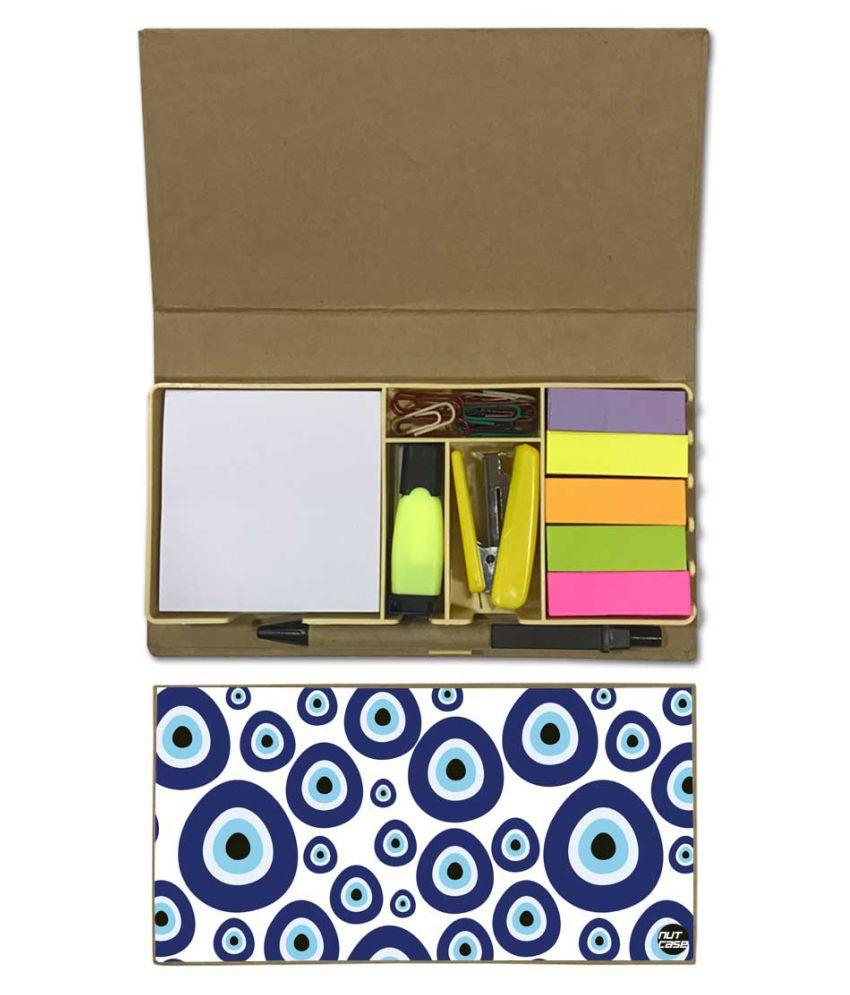 Nutcase Designer Stationary Kit Desk Customised Organizer Memo Notepad - Evil Eye