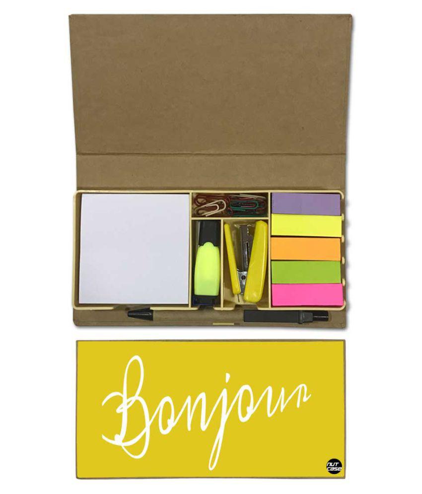 Nutcase Designer Stationary Kit Desk Customised Organizer Memo Notepad - Bonjour