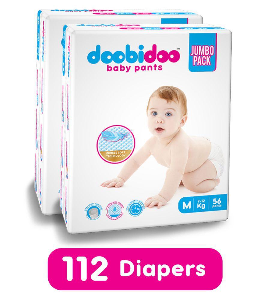 Doobidoo baby pants - Medium Size - 56 pants (Combo of 2)