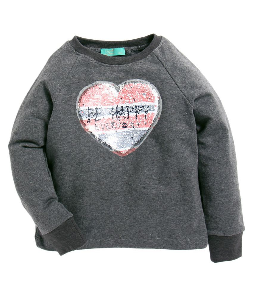 Tiara Girls' Sweatshirt With Reverse Sequence