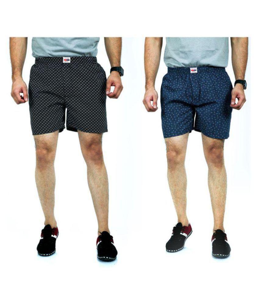 ACTIVE BASIC Multi Shorts Pack of 2