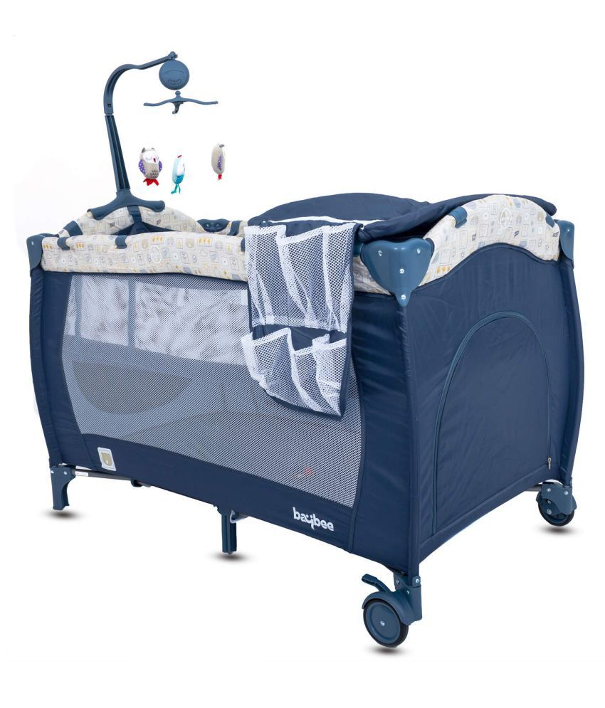 Baybee Sparrow Baby Play Pen Premium Quality Portable Travel Cot Baby Bed Cum Cot