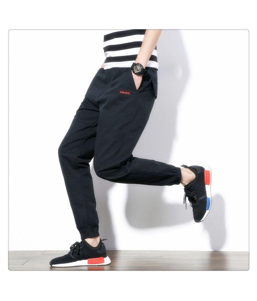 Super Me Blue Regular -Fit Flat Trousers
