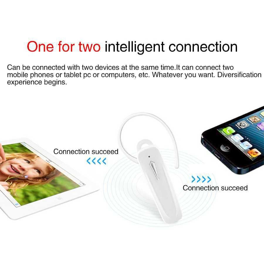 3b4e34eea07 Smart Bluetooth Wireless Headset with Mic - White - Bluetooth ...