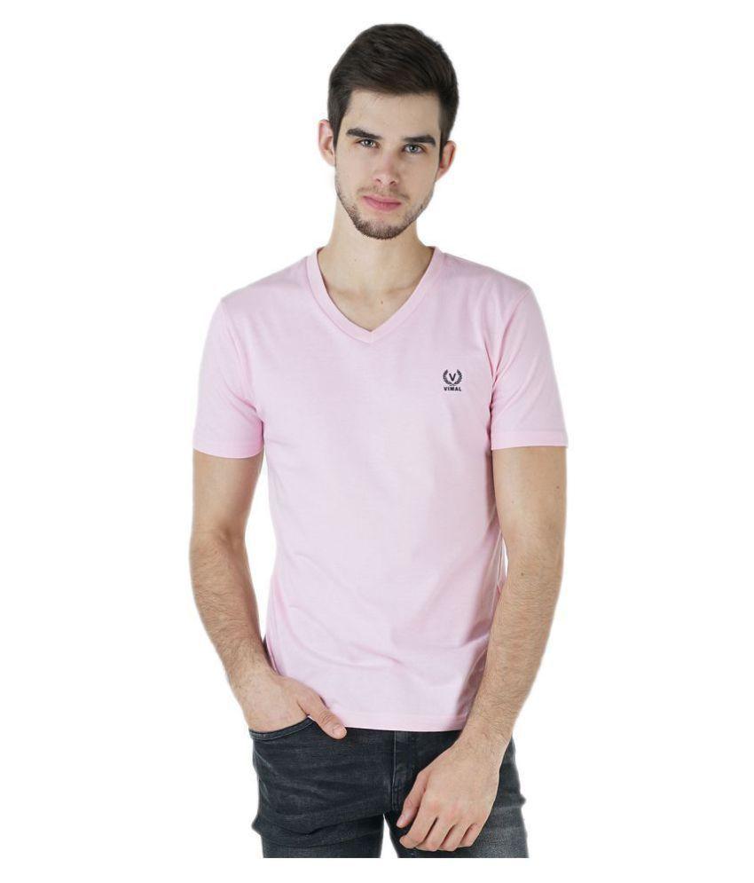Vimal Jonney Pink Half Sleeve T-Shirt