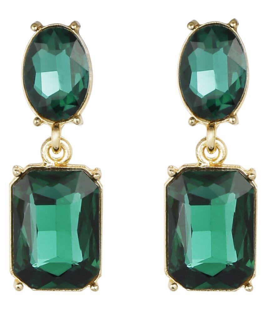 AccessHer Cubic zirconia Stones Used Partywear dangle earrings for women